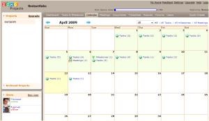 Calendario del proyecto